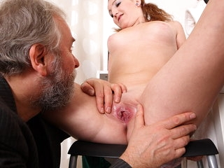 Sveta and her lover bring an older friend who loves younger women into their play.