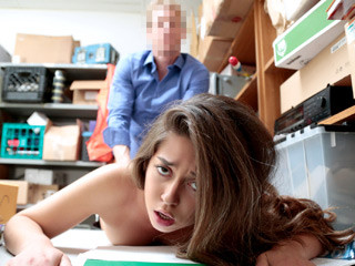 Young shoplifter chick Shane Blair gets banged by a mall LP officer