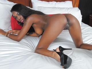 Cute ebony girl Ciara Rose enjoys getting fucked by a big white cock