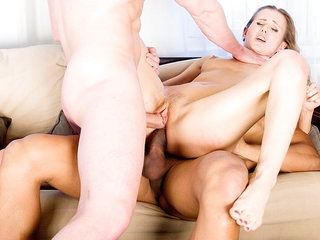 Hardcore porn girl Sabrina suffers from dp sex