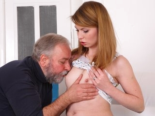 After a lengthy doggie style fucking Sveta gets her old lover's cum all over her body.